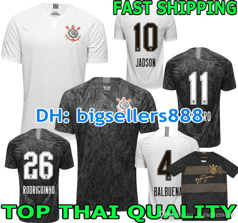 64280674c JADSON 2018 2019 Corinthianss Jersey Soccer Home White 3RD JO M ...