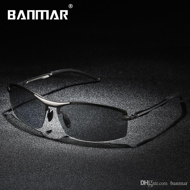 837f76dede03c Compre Banmar Marca Clássico Óculos Polarizados Fotocromático Descolorir  Homens Óculos De Condução Óculos De Sol Óculos De Viagem Masculino Oculos  Gafas 557 ...