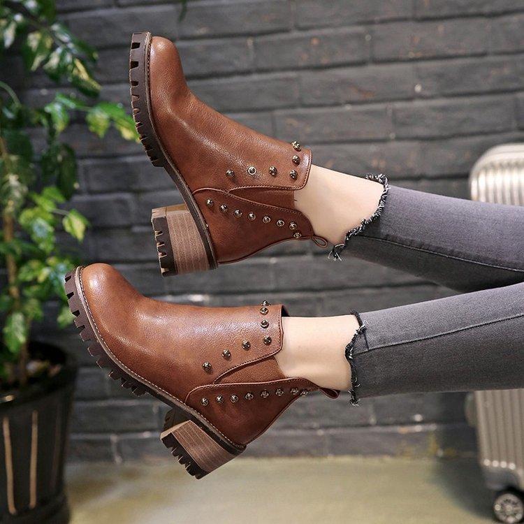 0c99c8c2f 2019 Venta caliente de moda zapatos de mujer 2018 otoño invierno PU casual  mujer tacones altos botas calientes mujer botas zapatos Mujer zapatos