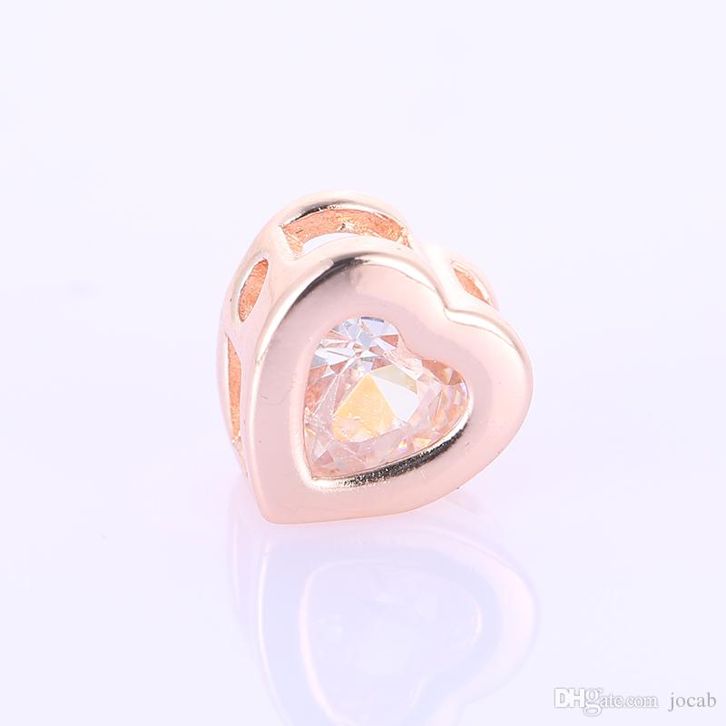 Wholesale Handmade DI Jewelry Making Supplies Crystal Heart Beads Jewelry DIY Spacer Bead Necklace Bracelets Sieraden Perles Charm Connector