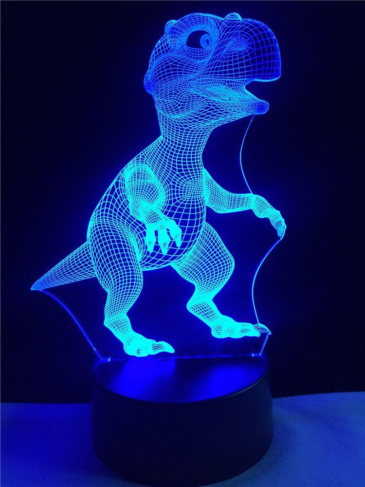 diy led night light homemade 2018 3d visual cartoon animal dinosaur led night light for decoration atmosphere diy lamp gift children from happylight228 1387 dhgatecom
