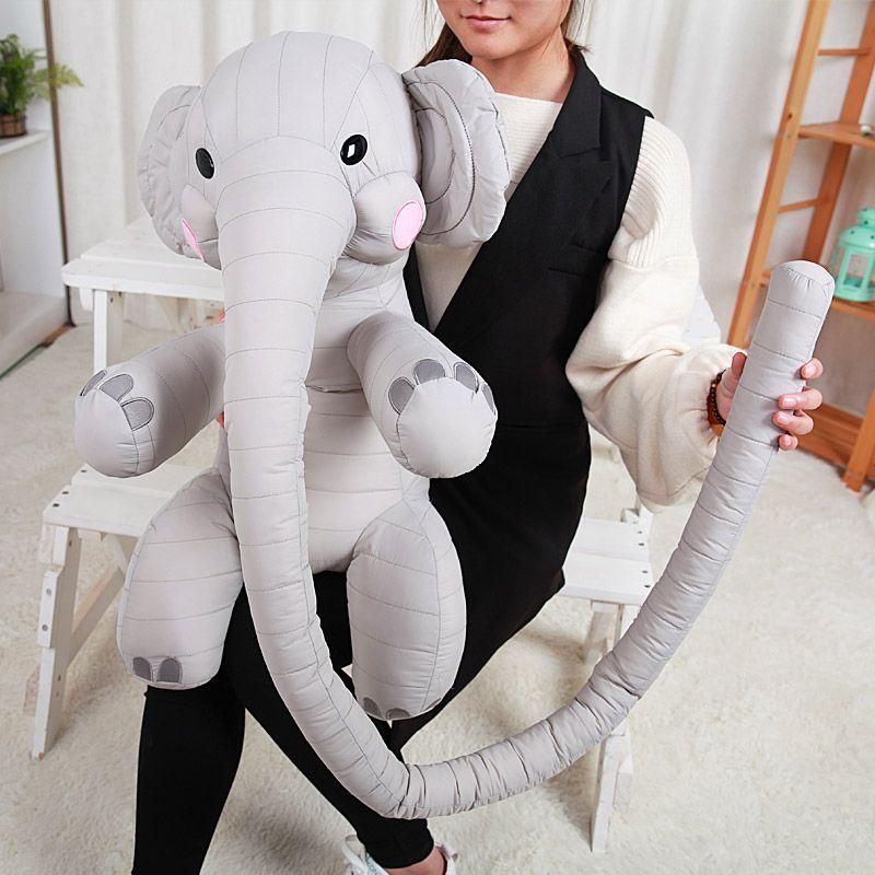 2019 Lovely 130cm Long Nose Animal Elephant Plush Toy Big Cute Soft
