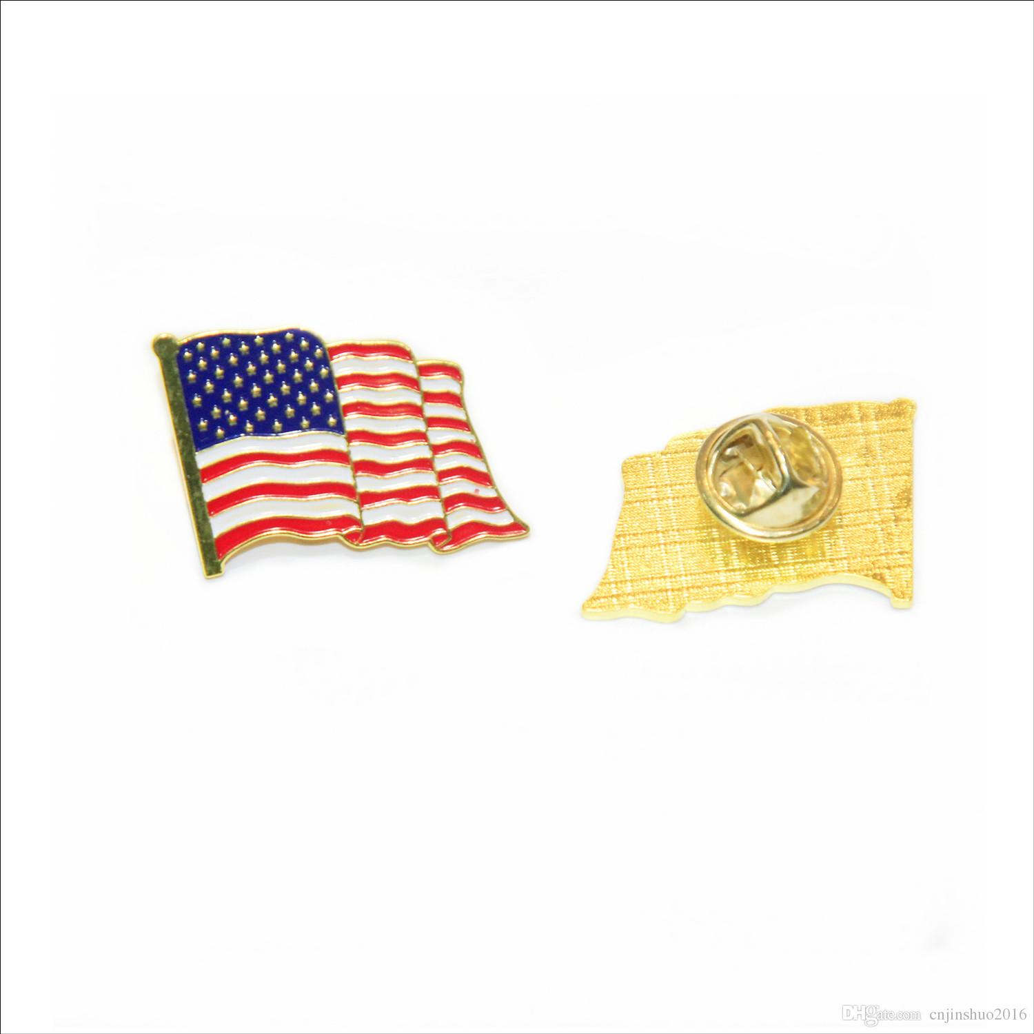 wholesale new style the United States of America flag lapel pin flag badge for campaign american flag pin brooch