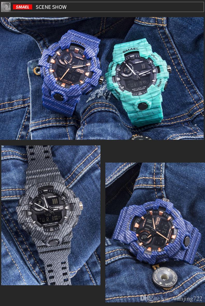 SMAEL Sport Watch Military Watches Men Army Digital Writwatch LED 50m Waterproof Men's Watch Man Watch Gift Clocks