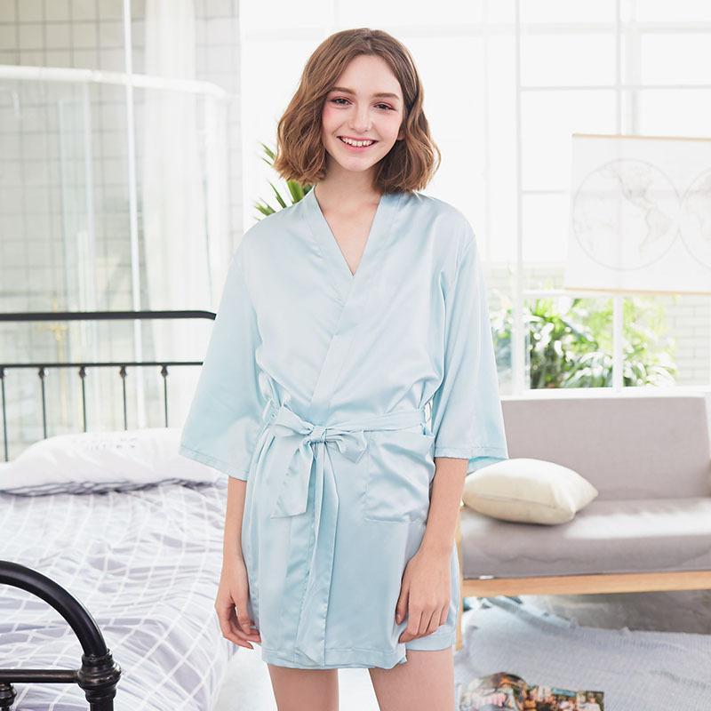 c698b31315ed Grlbobra Original New Silky Nightgown Sleeves Single Piece English Printing  Home Service Women Long Gowns De Verao UK 2019 From Douban