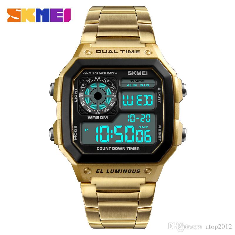 Skmei Sports Men Watch Man Count Down Waterproof Watch Fashion Digital Wristwatches Male Clock Relogio Masculino Men's Watches