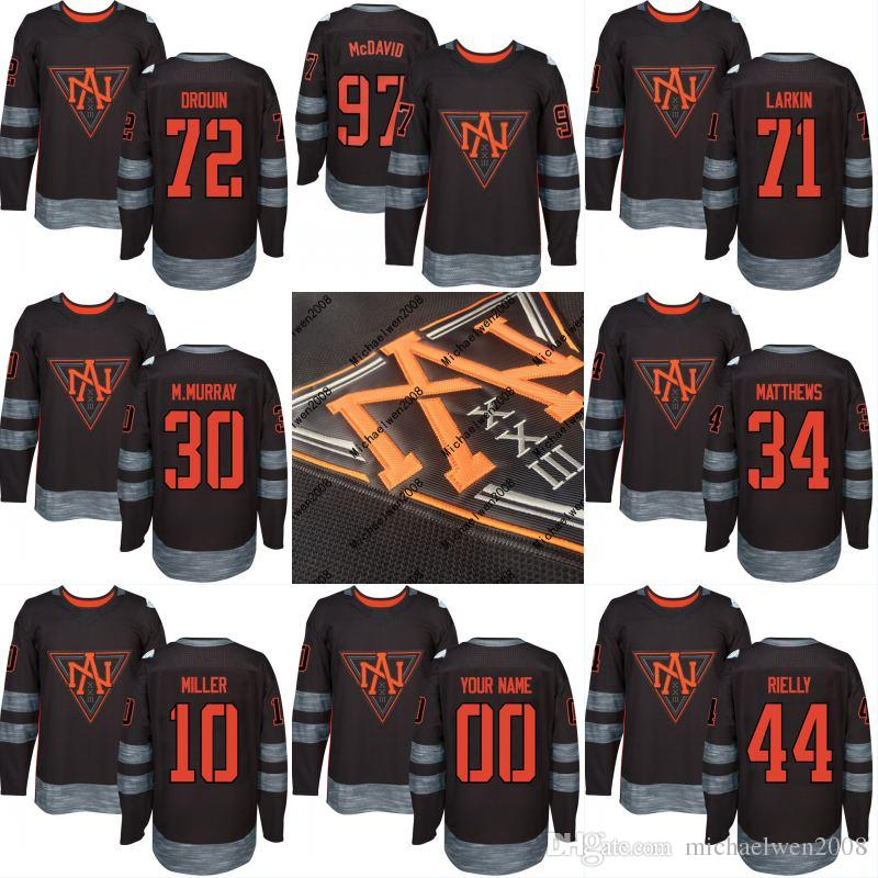 f4a488c80e2 2019 North America 2016 World Cup Of Hockey Jersey 23 Sean Monahan 27 Ryan Nugent  Hopkins 29 Nathan MacKinnon Custom Hockey Jerseys From Michaelwen2008, ...
