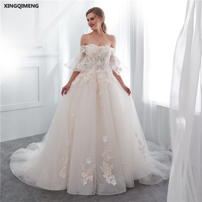 compre vestido de novia atractivo marfil precioso con cuentas de