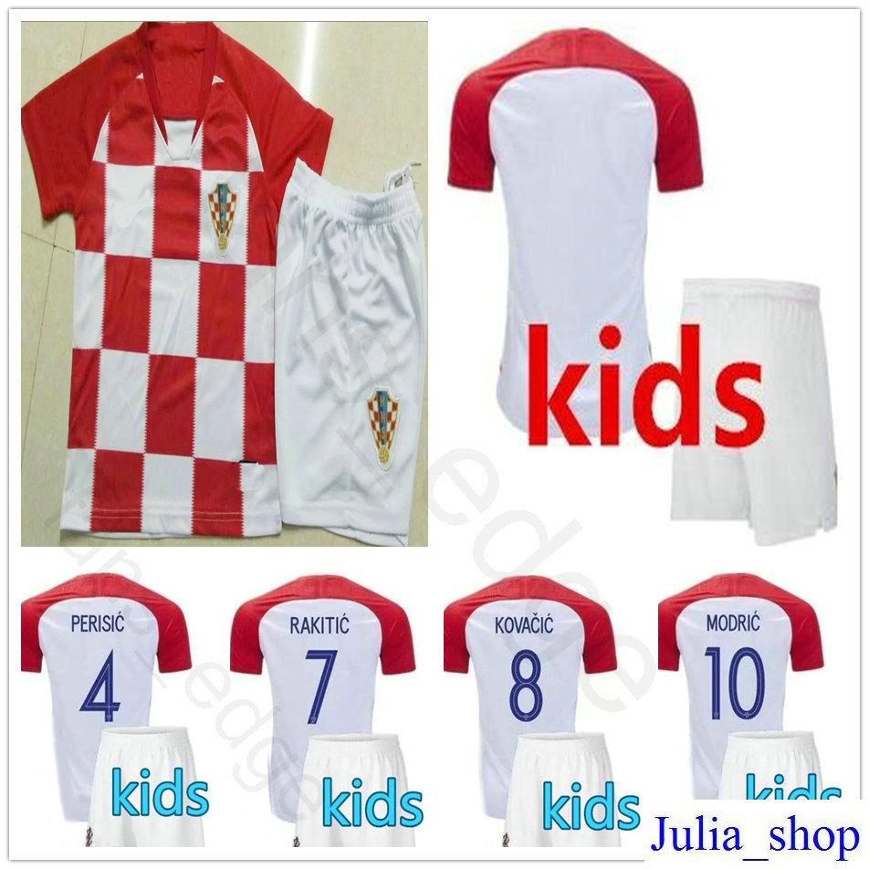 96b5b8aea 2019 Kids Soccer Jersey MODRIC PERISIC RAKITIC MANDZUKIC SRNA KOVACIC  Customize Men Women Youth 2018 World Cup Hrvatska Football Shirt From  Chen shop