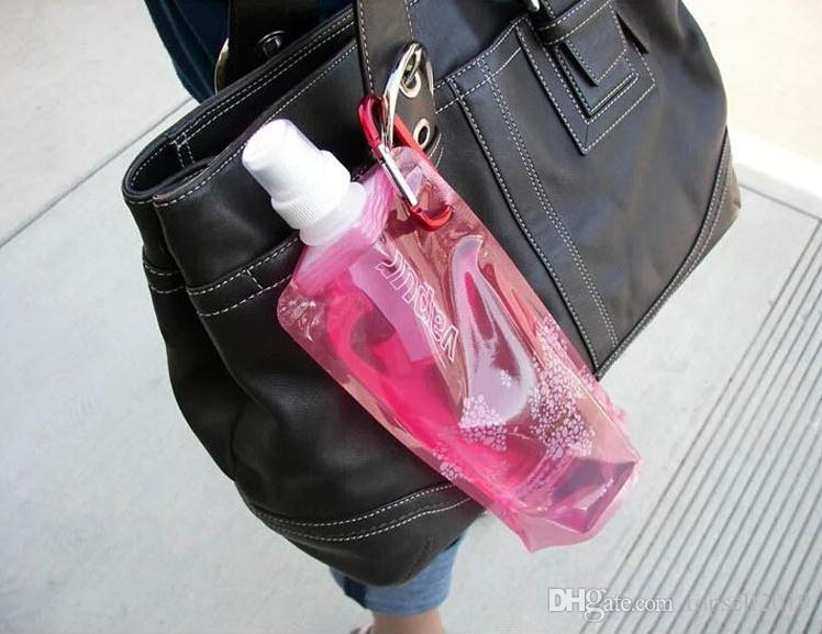 Water Bottle Comes Flat, Foldable Water Bottle Collapsible 0.48 Litres Anti-Bottle SN086