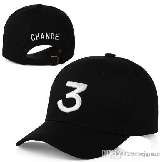 ada79c3bda37ef Wholesale- Hot Black/white Chance the Rapper Hat Gorra Sun Strapback ...