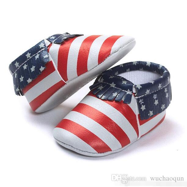 es Mocasines Baby Soft Sole PU Cuero First Walker Zapatos Babys Newborn Tassels Shoe Shoe Random Enviar