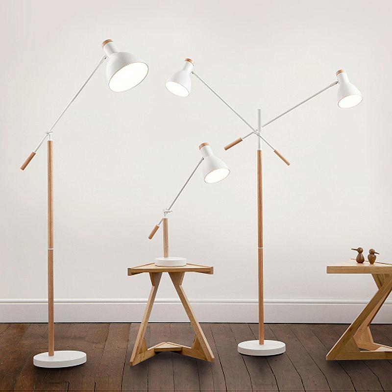 The American Minimalist Living Room Lamp, Iron Wood Floor Lamp