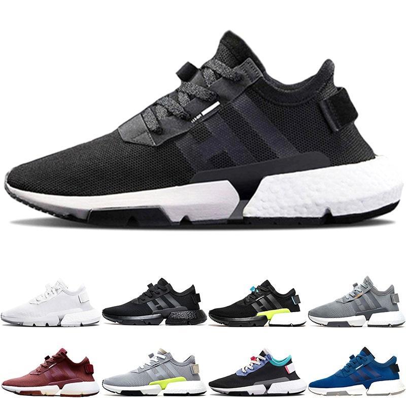 8beeff00d Adidas Originals P.O.D S3.1 Boost Barato P.O.D S3.1 System Hombre Mujer  Deporte Zapatillas De Running Triple Negro Blanco Azul Pod S3.1 Zapatillas  De Tenis ...