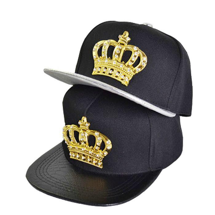 9a3c8a125f8 PU Leather Crocodile Mesuda Hip-hop Cap Lion Head Crown Snapback ...