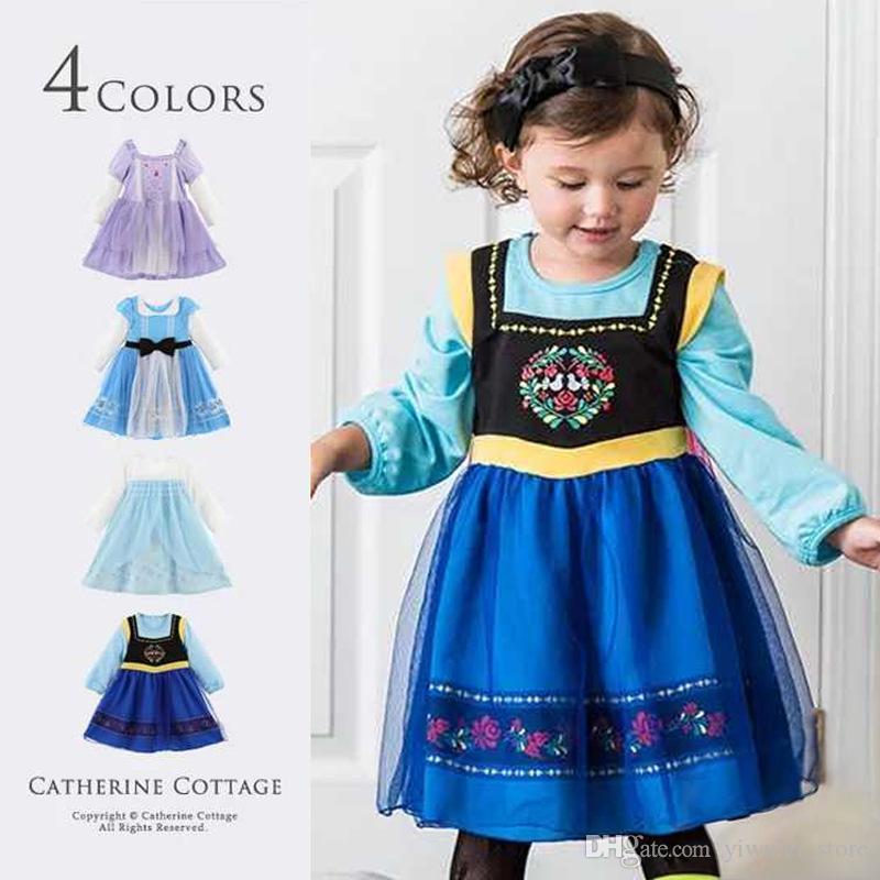 Halloween Kleider Fur Kinder.4 Farbe Kinder Party Halloween Kostum Kleidung Cosplay Baby Madchen Cinderella Kleider Kinder Prinzessin Kleider Grosshandel