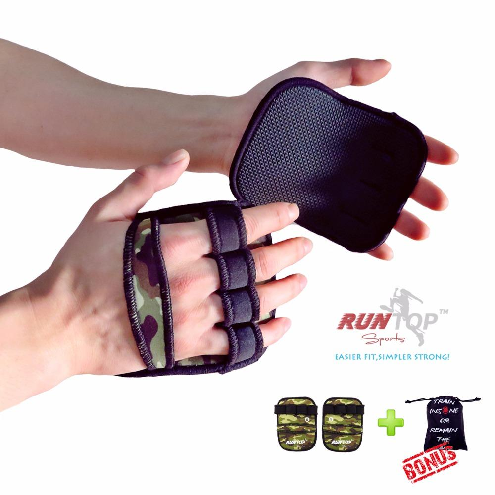 2018 6mm Weight Lifting Pull Up Grip Pads Gloves Crossfit