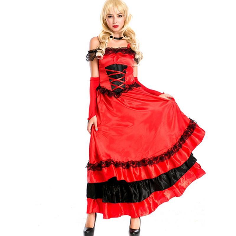 Acquista Vestito Da Ballo Spagnolo Vestito Da Grande Gonna A Pendolo  Apertura Gonna Da Ballo Costumi Rosso Flamengo Dancer M Vestito Da Flamenco  Spagnolo A ... 0d8e9cfb7a1
