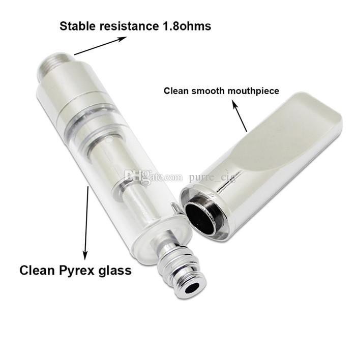 Matel flat tip cartridge atomizer 92A3 0.5ml 1.0ml pyrex glass tank vape pen white box package