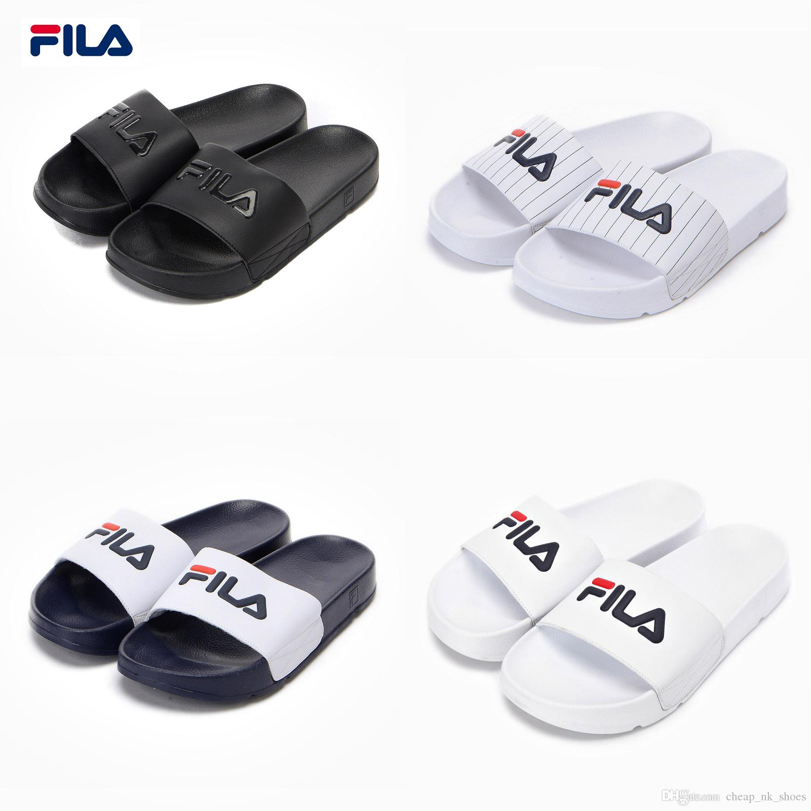46168c3ae932 Original Fila Sports Slippers DRIFTER Drifting Series Men Women Casual  Beach Sandals Slippers Breathable Wear Resistant Slippers Eur 36 44 High  Heel Shoes ...
