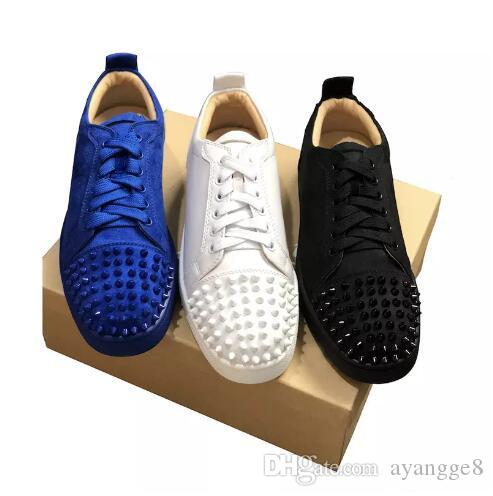 4cac5acdd19a27 NEW Designer Sneakers Red Bottom Shoe Low Cut Suede Spike Luxury Shoes For  Men And Women Shoes Party Wedding Crystal Leather Sneakers Orthopedic Shoes  ...