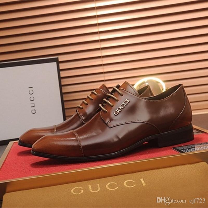 Grosshandel Designer Herrenmode Buro Kleid Schuhe Echtes Leder