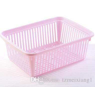 Household Large Plastic Storage Basket Bathroom Kitchen Storage Basket