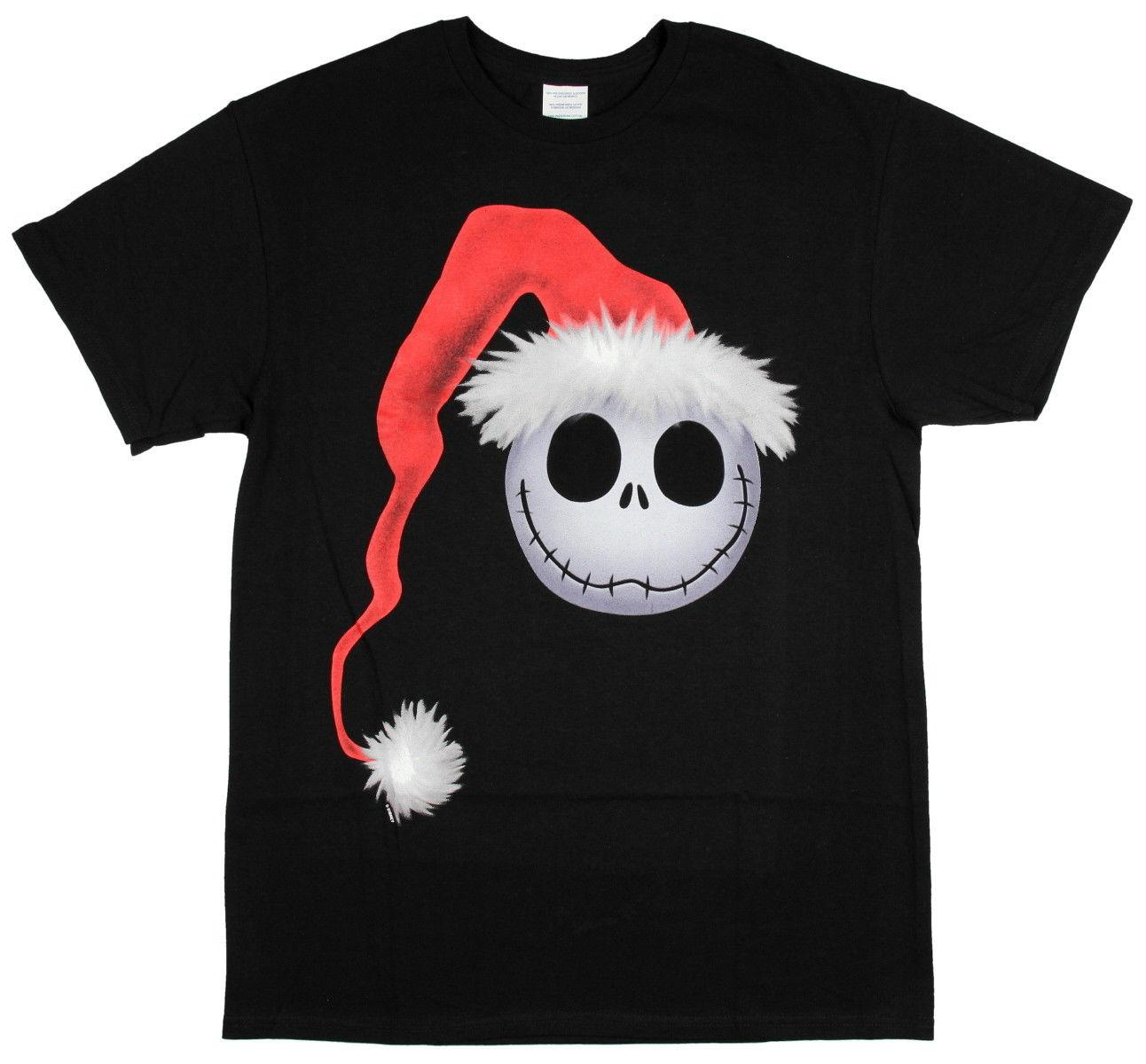 Nightmare Before Christmas T Shirt Men\'S Jack Skellington Face Santa ...