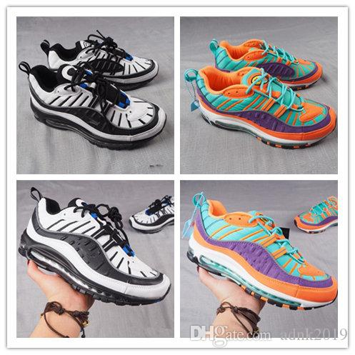 e425250cd5fd4 2018 New 98 OG QS Multi-Color 98s Men s Running Shoes Cushion Casual ...