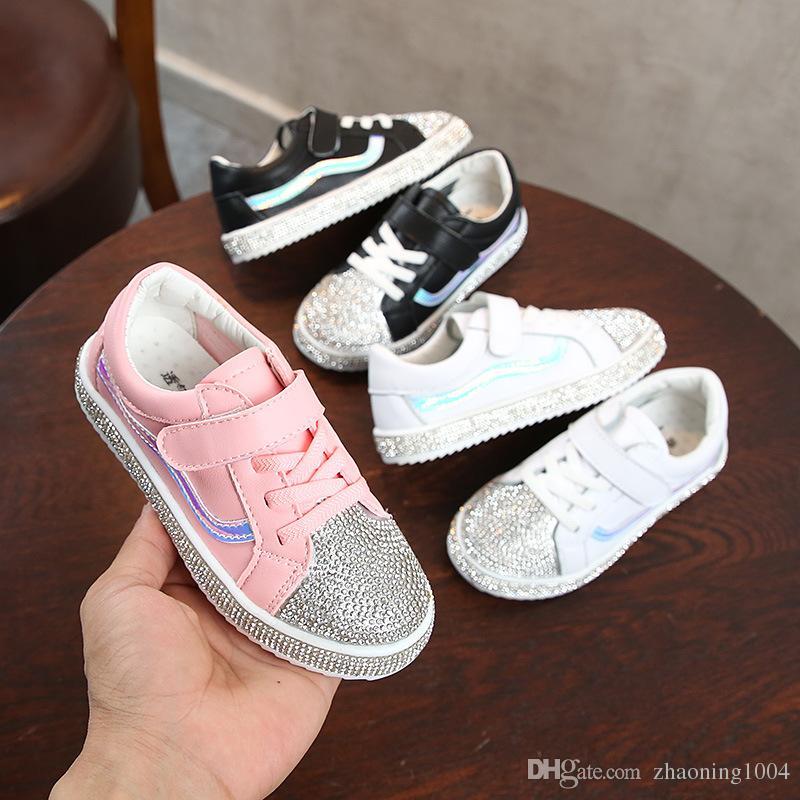 71f6f5024 Compre Zapatos Planos De Diseño Para Niños Zapatillas De Deporte Para Bebés  Y Niños Pequeños Zapatos Para Niños Niños Jóvenes Chicas Zapatillas  Deportivas ...