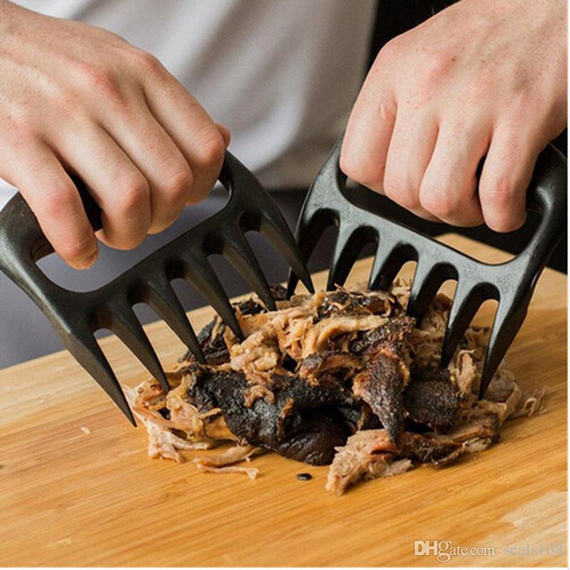 Grizzly Bear Paws Fleisch Krallen Handler Gabel Zange Pull Shred Schweinefleisch BBQ Grill-Tools BBQ Grillen Zubehör mit Kleinkasten HH7-904