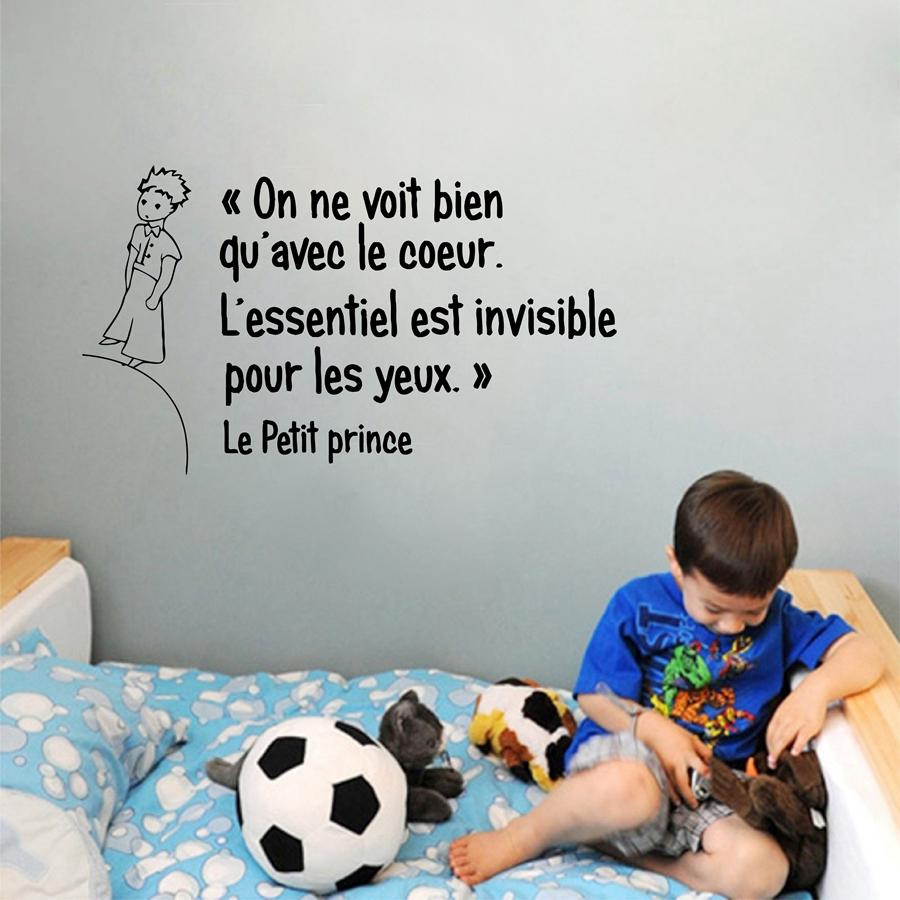 Sticker flower french the little prince quotes vinyl wall sticker children boys room bedroom prince wall art mural decals decor word wall stickers world
