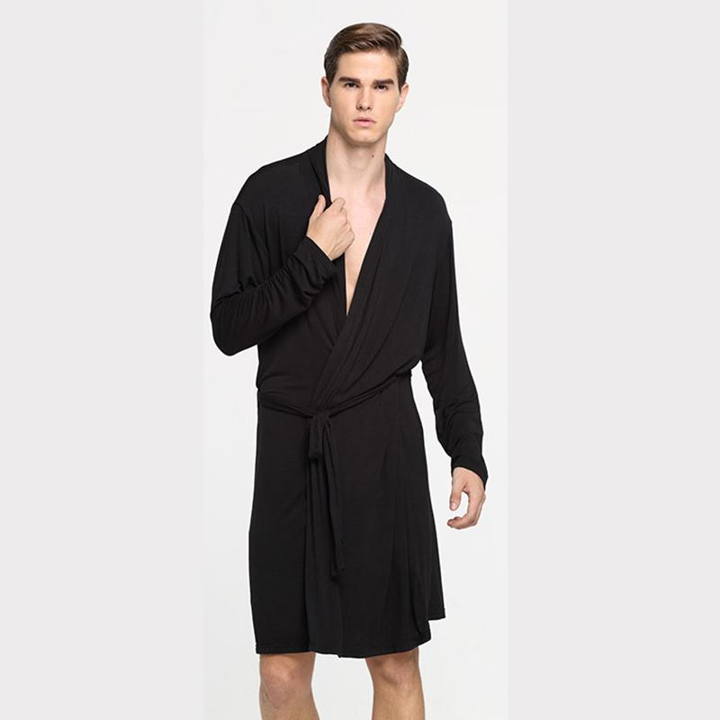 Men Female Kimono Robe Gown Long Sleeve Unisex Femininas Male Dressing Bathrobe Night Gown Loungwear Bathrobe Sleepwear Clothes Keep You Fit All The Time Men's Sleep & Lounge