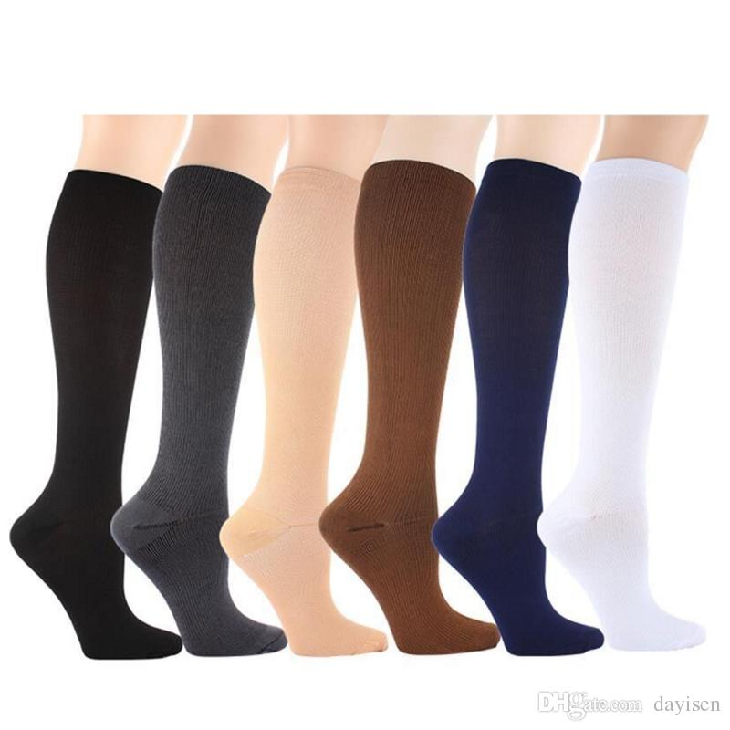 b520e91fc 2019 Knee High Graduated Compression Socks Women Men Anti Fatigue Magic Leg  Warmers Slimming Socks Calf Support Relief Socks From Dayisen, $2.24 |  DHgate.