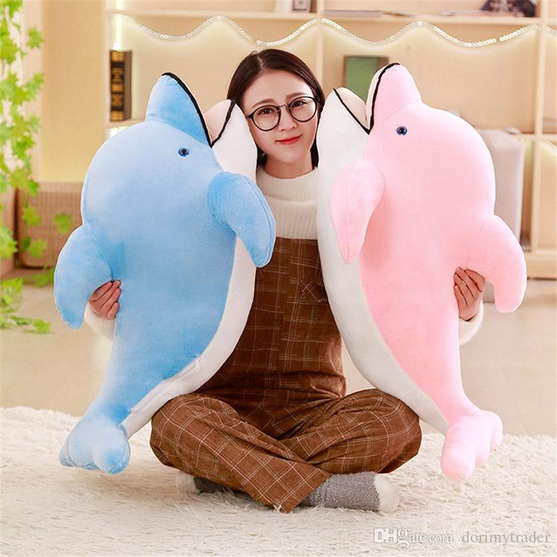 Dorimytrader Big Soft Sea Animal Dolphin Plush Toy Stuffed Cartoon Dolphin Animals Pillow Doll Decoration Gift for Girls and Boys 120cm
