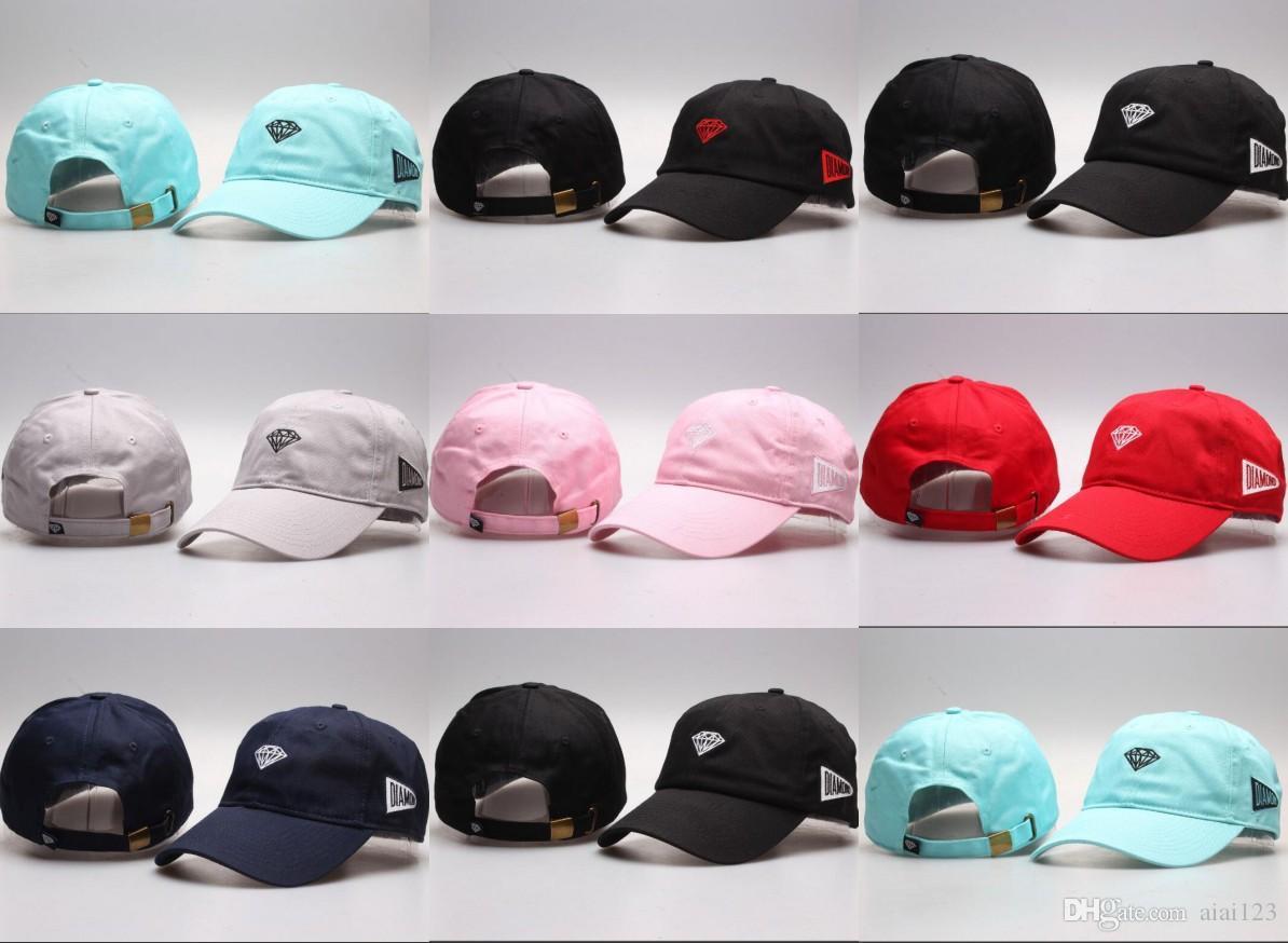 359458ad3e6 Wholesale- New Five 5 Panel Diamond Snapback Caps Hip Hop Sun Cap ...