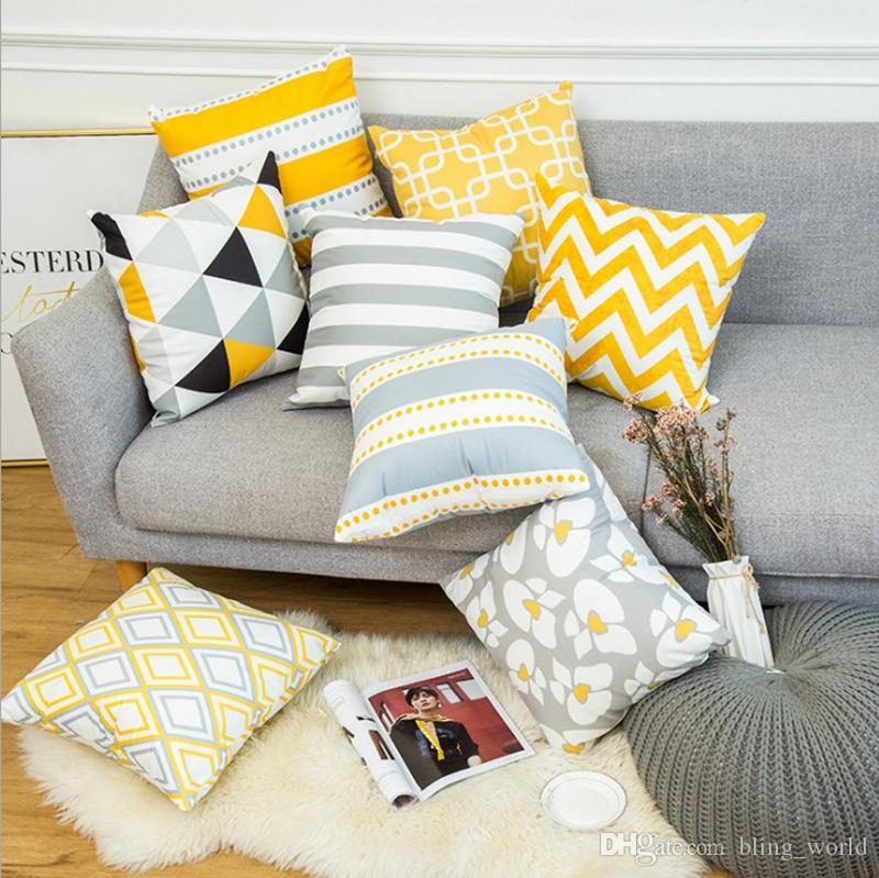Cushions Covers Geometric Throw Pillow Case Velvet Couch Cushion Covers  Decorative Sofa Cushions Home Decor 16 Designs 10pcs YW1503