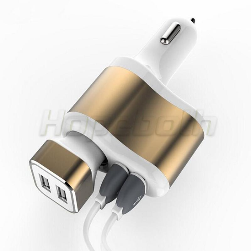 Universal Auto 3.1A Dual USB Car Charger One Way Car Cigarette Lighter Socket Adapter Charger for iphone Mp3 Mp4 Gps