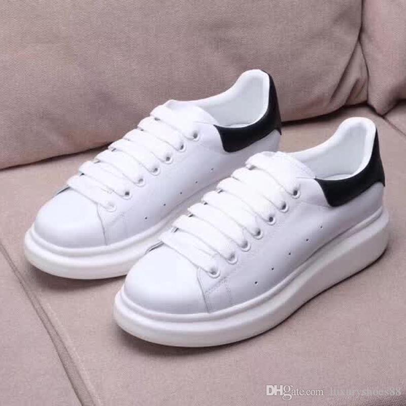 Luxury Snow White Casual Running Shoes for Women Black Genuine ... 8286e51c38c8