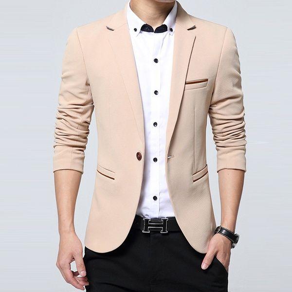Großhandel Mode Party Kleid Herren Slim Fit Baumwolle Blazer Anzug ...