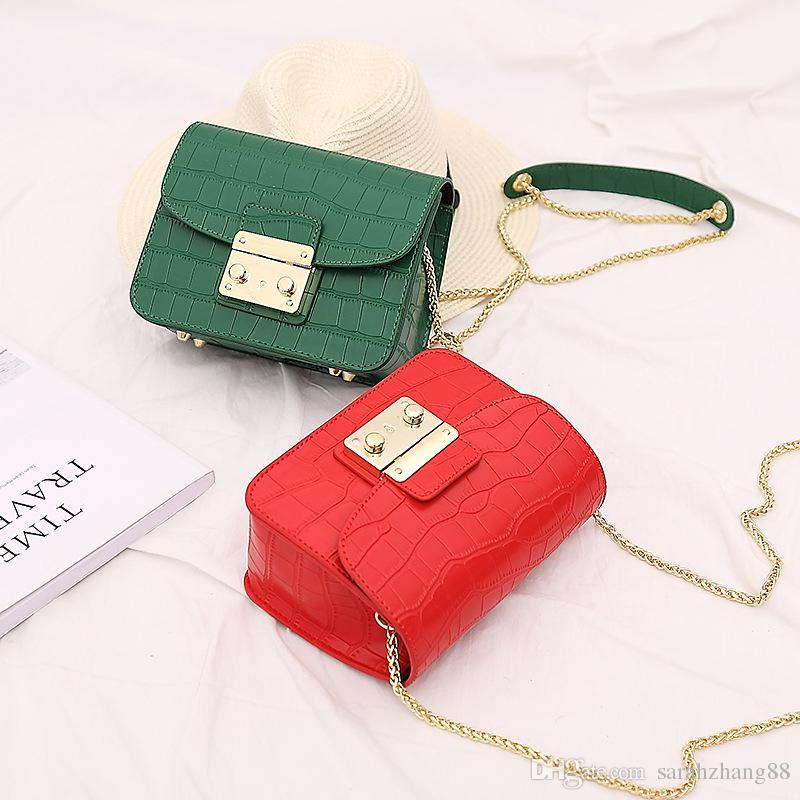 00d1bea7656f Women s Stylish Alligator Chain Shoulder Bag Cross-body Bags Handbag ...