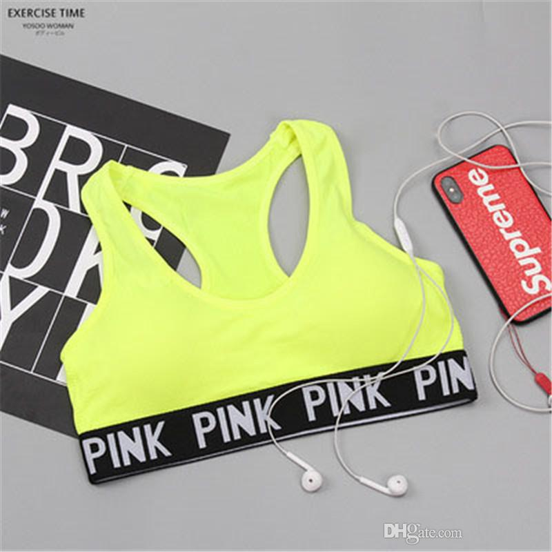 b7a2ff4806ed 2019 Fashion Letter Sports Women Bras Running Yoga Push Up Underwear For  Lady Sexy Outdoor Active Tanks From Skr_hiphop, $9.65 | DHgate.Com