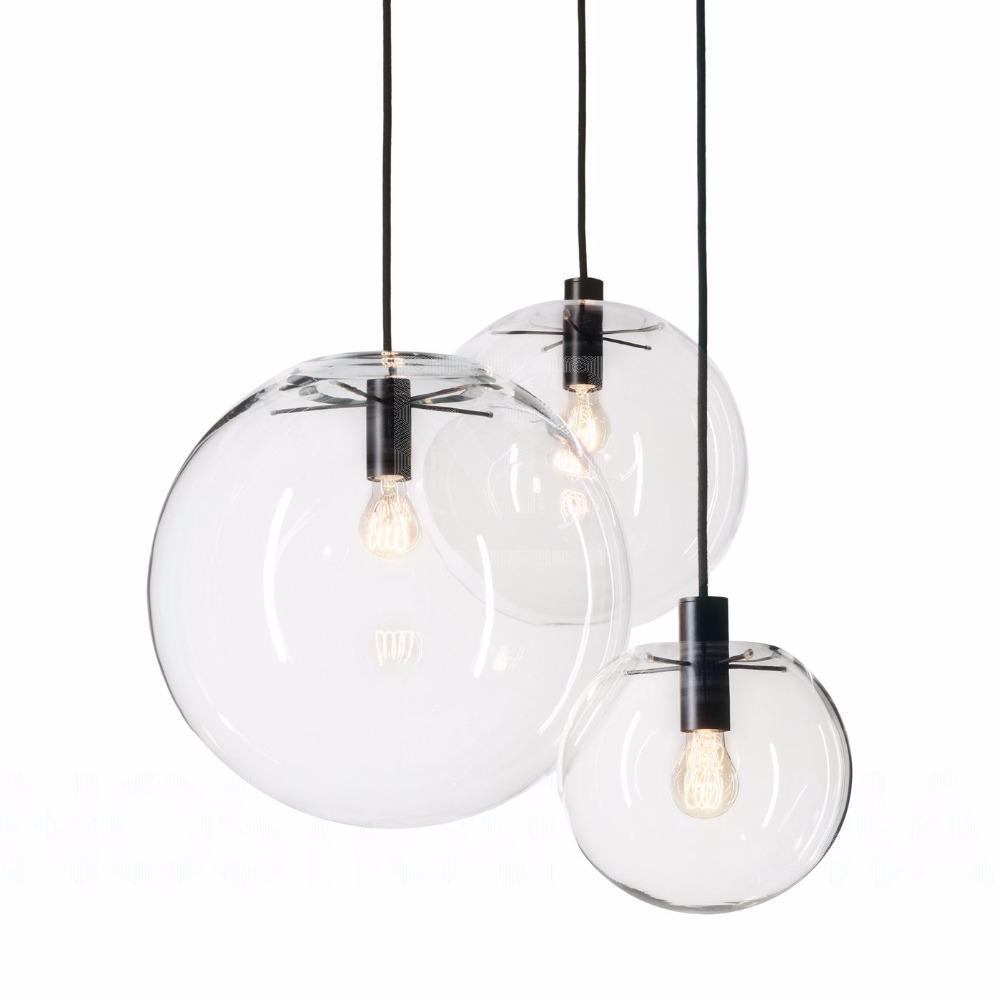 Bubble ball glass pendant lights light led hanglamp loft decor lamps light fixtures hanging lamp living room dining room pendant light pendants from caraa