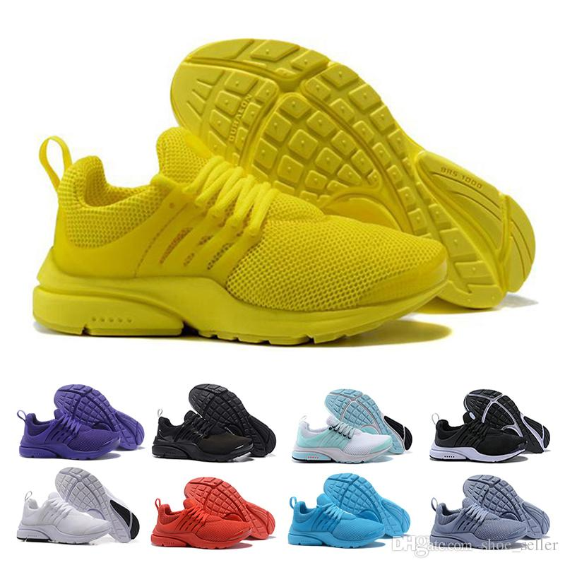 acheter pas cher 2e4f6 46ae8 Nike Air Max 2019 nike Presto Chaussures De Course Hommes Femmes Ultra BR  QS Jaune Rose Prestos Noir Air Blanc Oreo Extérieur Jogging Hommes Baskets  ...
