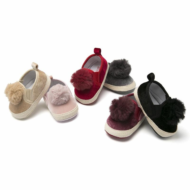 becb73f3b86be Newborn Boy Girl Baby Shoes Moccasins Fashion Moccs Shoes Toddler Infant  Cute Pompom First Walkers Fringe Soft Soled Boots First Walkers Cheap First  Walkers ...