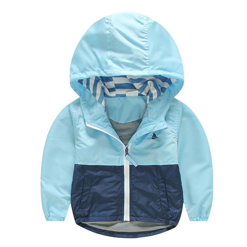 163ee5b24 Kids Toddler Boy Jacket Coat Spring Autumn Hooded Windbreaker ...