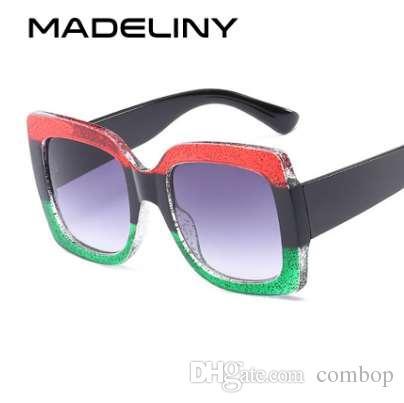3a81607c18 Compre MADELINY Nueva Llegada Moda Gafas De Sol Cuadradas Mujeres ...