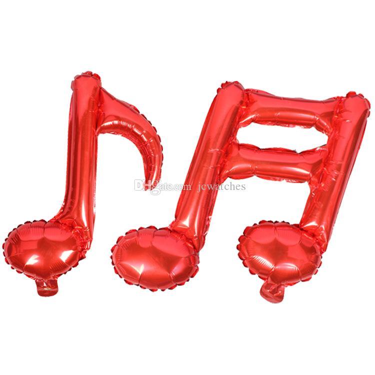Balões da folha da nota da música Decoração do partido da sala do bebê Fontes do aniversário do casamento