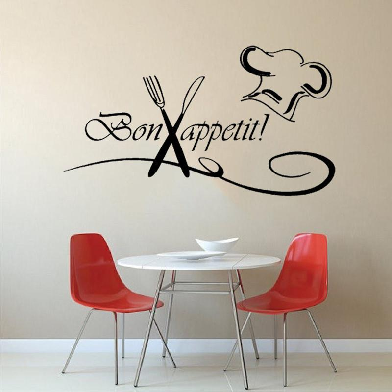 Kitchen Chef Fork Wall Stickers Art Dining Room Fashion Personality Creative Classic Attractive Baby Decals From Xymy757