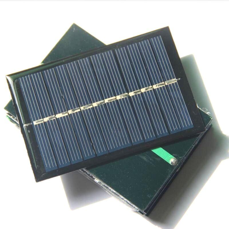 Großhandel! 20 teile / los 0,6 Watt 6 V Mini Polymer Solarzellen Panel DIYTest Sonnensystem 90 * 60 MM Freies verschiffen